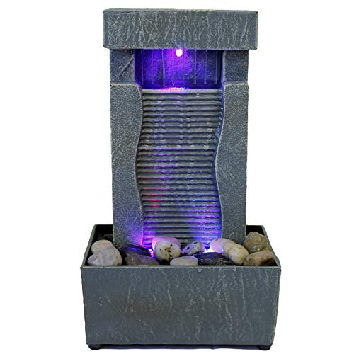 Nature's Mark 11' H Raining Slate Color Changing LED Fountain (No Adapter)