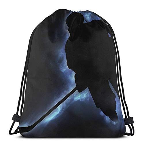 Eishockey-Rucksack mit Kordelzug, Sporttasche, Reisetasche, für Kinder, Herren und Damen