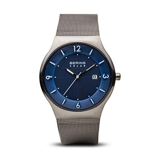 BERING Herren-Armbanduhr Analog Solar Edelstahl 14440-007