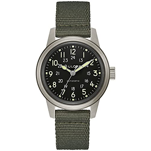 Bulova Men's Stainless Steel Automatic Watch with Nylon...