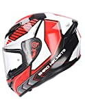 Shiro CASCO INTEGRAL MODELO SH 870 POLE HOMOLOGADO CASCO PARA ADULTO COLOR ROJO M