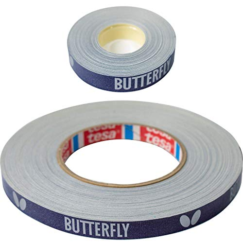 Butterfly Side Tape to Protect The Edges of Your Rubber and Blade for Table Tennis Paddles - Color Blue/Silver - Width 12mm - Rolls Come in 10m (20 Rackets) and 50m (100 Rackets) (3503M10)