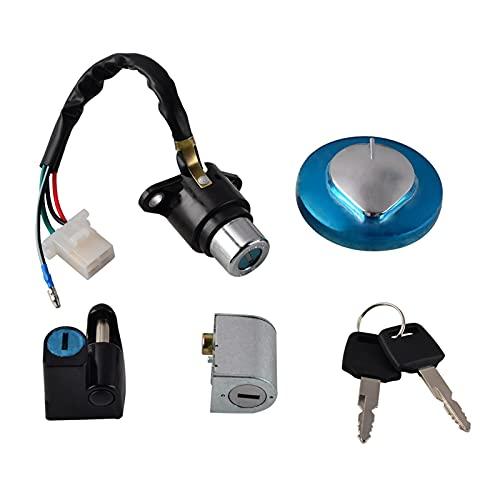 ZHANGLI Interruptor de Encendido Cap DE Gas Casco DE Casco CLOQUE DE CERRADURSE Ajuste para CMX250 Rebelde 250 1985-2015 CA125 1995-1999