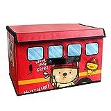 Scatola di immagazzinaggio, Scatola dei giocattoli, Organizzatore di giocattoli per bambini vestiti, Cestino portaoggetti, Scatola di stoccaggio pieghevole con coperchio 38*25*25cm,Rosso