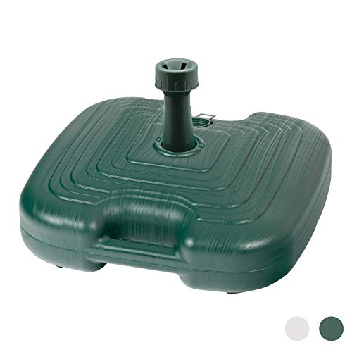 Resol Pied de Parasol/auvent - en Plastique - Vert - à remplir de Sable/Eau
