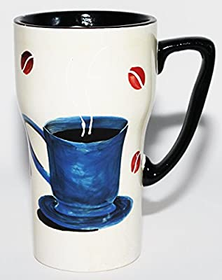 Painted To Go Mug With Handle And Lid