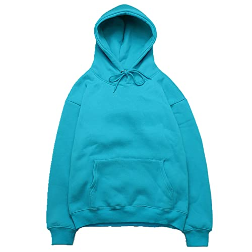 Suéter suelto casual para hombre primavera otoño sudadera con capucha cómoda para hombre, azul, XXL