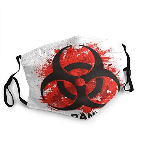 Quarantine Sign Biohazard Danger Virus Warning Face Masks Washable Reusable Safety Masks Protection from Dust Pollen Pet Dander Other Airborne