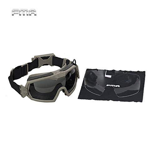 KOMNY FMA New Tactical Glasses Regulator Goggle Eyewear Protection Regulator Fan Version Goggle Anti-Staub-Skibrille, DE