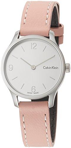 Calvin Klein Damen Analog Quarz Uhr mit Leder Armband K7V231Z6