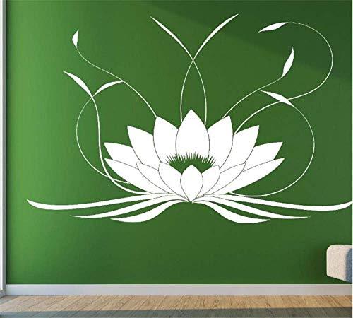 Lotus Buda Yoga Meditación Decorativa Salón Dormitorio Yoga Centro Salud Decoración de fondo esculpido 57 x 76 cm