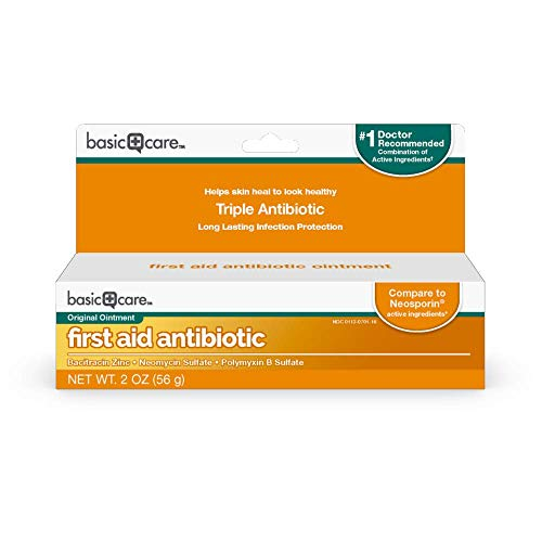 Amazon Basic Care First Aid Triple Antibiotic Ointment Treats Minor Cuts Scrapes and Burns 2 Ounces