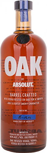 ABSOLUT Vodka Oak Barrel Crafted Oak Infused Vodka 40% Vol. 1L - 1000 ml