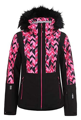 Icepeak Damen Skijacke Nancy, schwarz/pink, Gr. 42
