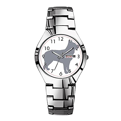 Relojes para hombre de acero plateado banda superior marca impermeable Japón reloj de cuarzo...