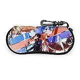 Custodia per occhiali Anime Sword Art Online Custodia per occhiali da sole Custodia per occhiali ultra morbida in neoprene con cerniera e clip da cintura