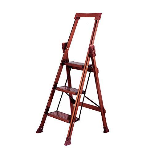 Fuß Leiter, 3 Stufen - Multifunktions-Leiter aus Aluminium, faltbar Stufenleiter for Innen Bibliothek Garten Stabilität und Sicherheit