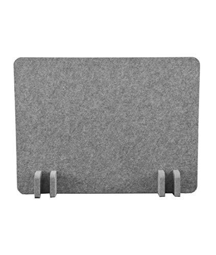 S Stand Up Desk Store ReFocus™ Raw Freistehender akustischer Schreibtischteiler - Reduzieren Sie Lärm und visuelle Ablenkungen mit diesem leichten Sichtschutz (53 x 41 cm) (Schlossgrau, 53 x 41 cm)