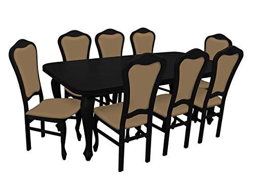 Mirjan24 Esstisch Stuhl Set RB09 Essgruppe, Tischgruppe, Große Farb- und Materialauswahl, Sitzgruppe Esstischgruppe, Esszimmergarnitur (Wenge, Casablanca 2304)