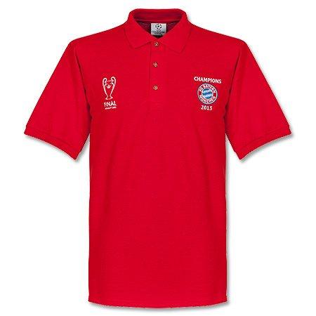 Poloshirt FC Bayern [Champions League Sieg Wembley 2013] rot. Größe S
