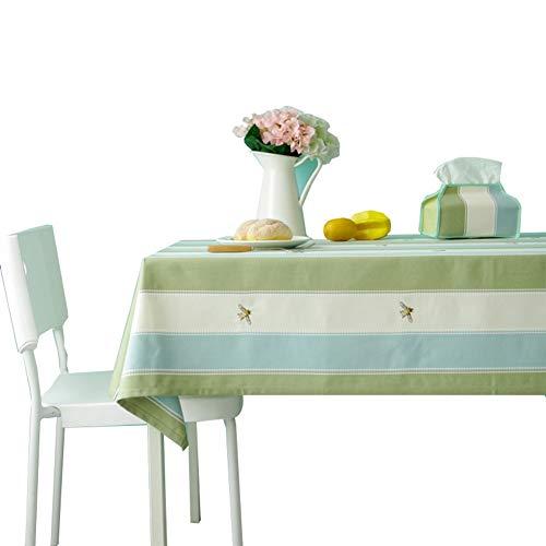 ZHANGGUOHUA-zheyangwang Cotone Biancheria da Tavola Panno Rettangolare Kitchen Table Covers Prova della Polvere Giardino Decorazione della Tavola (Color : Bee, Size : 140x240cm)