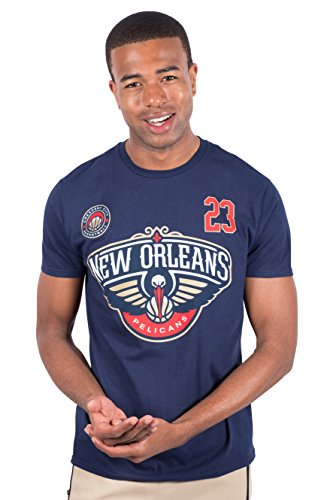 Ultra Game NBA New Orleans Pelicans - Anthony Davis Mens Player Name And Number Short Sleeve Tee Shirt, Team Color, Large