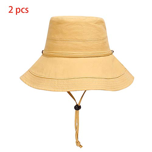 WYYHAA UV Protection Sun Hats, Hat Wide Brim Summer Hat Foldable Floppy Beach Hats for Women Adjustable Sizes,A