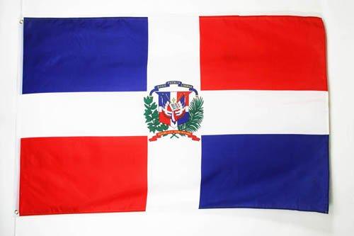 AZ FLAG Bandera de la REPÚBLICA Dominicana 150x90cm - Bandera Dominicana 90 x 150 cm