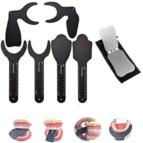 Wxnnx Contraste Dental de 7 Piezas con Espejos de fotografí