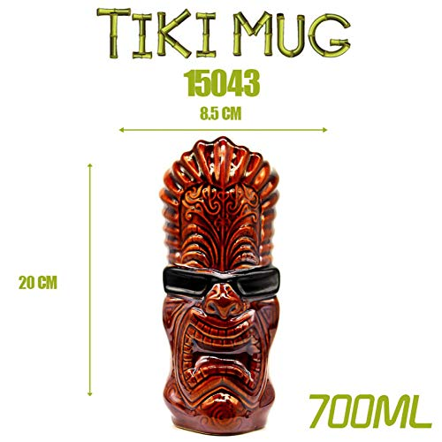 ZKGHJOKZ Tiki Tasse Coupe Bar Cerveza Tiki Bar Tiki Mug Tiki Keller Hawaii Copa De Cóctel Martini Tazas De Cerámica