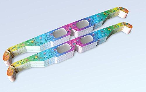 100 Stück Multispektral Brille - Regenbogen, Spektralbrille, Partybrille, Silvesterbrille, Feuerwerksbrille
