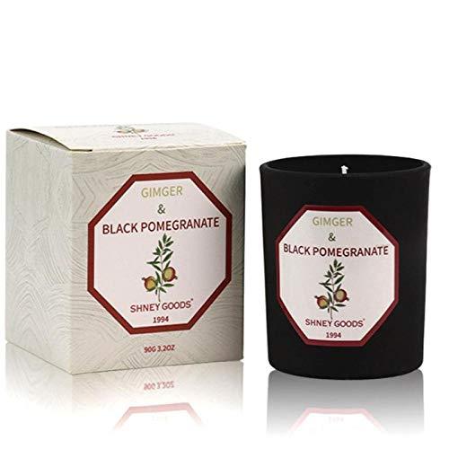 Geurkaars Aromatherapie Kaarsen Natuurlijke plantaardige etherische olie Binnenslaapkamer Agod-geassisteerde sojakaars Zwarte granaatappel en gember