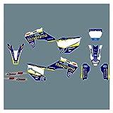 Zhbqcmou Gráficos de Motocicletas Fondos Etiquetas engomadas, Kits para Husqvarna TE FE 2020 2021 125-450 TC FC TX FX FX 2019-2021 hnzhb (Color : Black)
