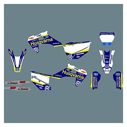 Wjyfexble 3M Motorcycle Graphic Decalation Stickers Kit para Husqvarna Te Fe 125 150 250 350 450 2020 TC FC TX FX FS 2019-2021 WYJHN (Color : Green)