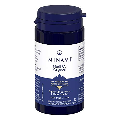 Minami - MorEPA Original - Omega 3 Fish Oil - High EPA & DHA Formula - 590mg EPA & 130mg DHA per Serving - Supports Normal Brain, Vision and Heart Function - 30 Softgels