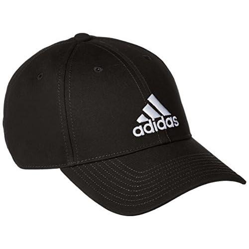 adidas 6 Panel Classic cap Cotton, Headwear Unisex Adulto, Black/Black/White, L
