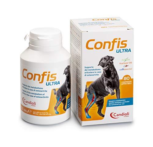 Candioli Confis Ultra Integratore per Cani e Gatti, 80 cpr