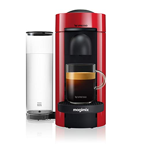 Nespresso 11389 Vertuo Plus Special Edition, by Magimix, Coffee Capsule Machine, Red - Claim 50 coffee capsules plus 2 months' (1st & 6th) coffee subscription for free when you buy this product