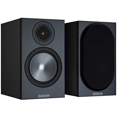 Monitor Audio Bronze 50 6G | Farbe: Schwarz | Kompaktlautsprecher | Paar | Stereo & Heimkino | Regal-Lautsprecher | 2-Wege | 8 Ohm | 80 Watt | Magnetische Abdeckung | Bassreflex | Passiv