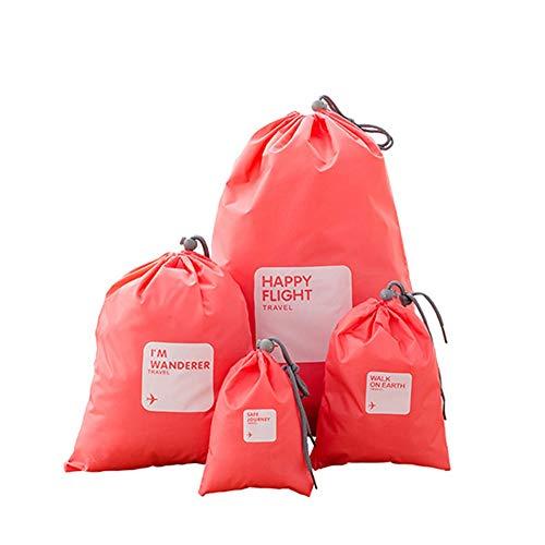 Cubos de Embalaje de Viaje Sistema de 4pcs impermeables almacenaje de la ropa bolsas de viaje Accesorios de viaje organizadores de ropa Artículos de higiene cosmética de almacenamiento de cable Bolsas