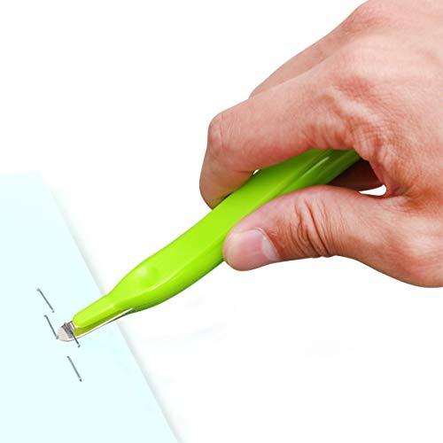 TOYANDONA 3pcs Staple Remover Professional Plastic Handheld Staple Puller Staple Pin Removing Tool for Stapler School Office Home (Light Green) Photo #3