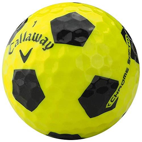 lbc-sports 12 Callaway Chrome Soft Truvis Palline da Golf – AAA – Giallo/Nero – Lakeballs – Palline da Golf usate – in Sacchetto di Rete
