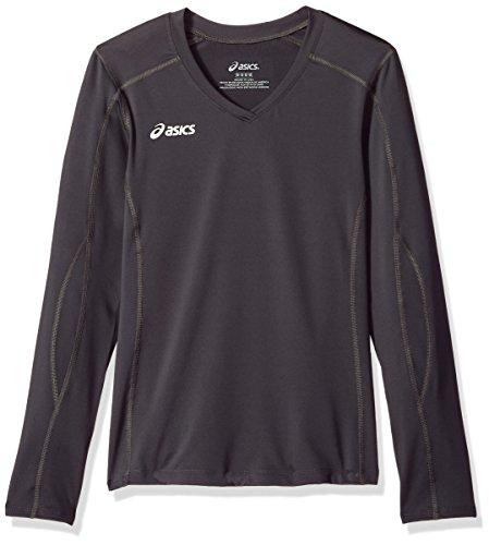 ASICS Junior Roll Shot Jersey Training & Fitness Top, Unisex-Kinder Jungen, Langärmelig, Jr. Roll Shot Performance Jersey, stahlgrau, Large