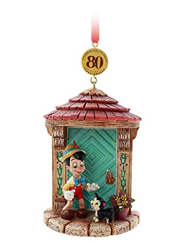 Disney Store Pinocchio Legacy Hanging Ornament - Ornament features Pinocchio and Figaro