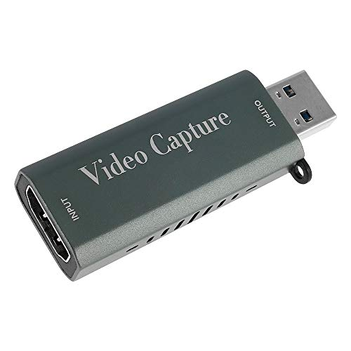 Tarjeta de captura de vídeo, HD 1080P, dispositivo de captura de audio HDMI a USB 3.0, Plug and Play, utilizado para grabar transmisiones en directo, juegos, aprendizaje, conferencias (1080P)