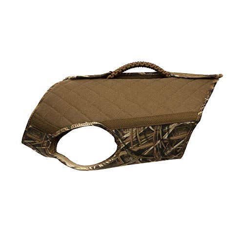 Rig'Em Right Waterfowl Bloodline Elite Dog Vest for Duck Hunting with Ultra Comfortable 3mm Neoprene 3-Layer Construction, Flotation Foam, Heavy-Duty Canvas, and More (Mossy Oak Blades, XL)