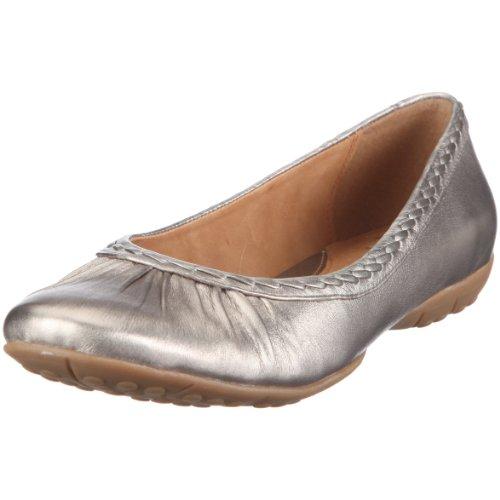 Clarks 20343382 Arizona Sands2, Damen Ballerinas, Silber (Metallic Leather), EU 39, (UK 5.5)