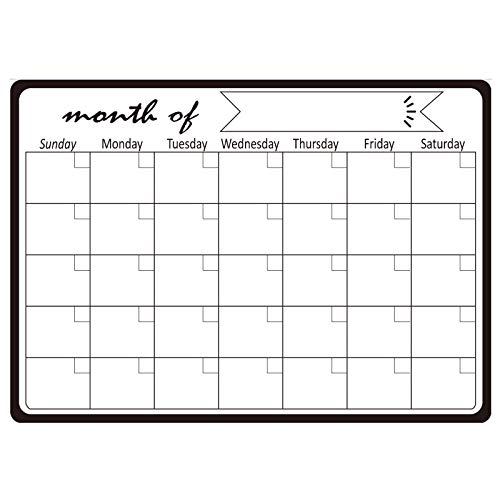 DQANIU Calendar Stickers, Refrigerator Stickers, Message Soft Whiteboard, Foldable Magnetic Soft, Planning Table Office, Can Be Reused Many Times Write More Than 100,000 Times In Total