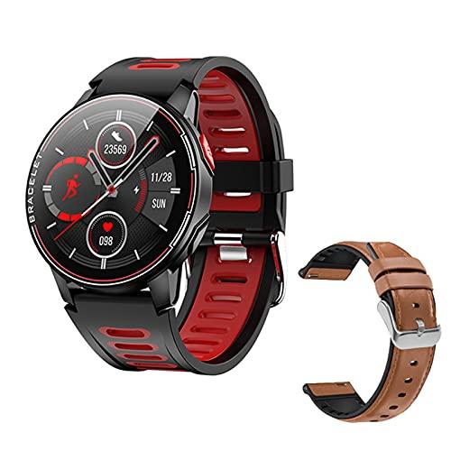 ZGNB L6 Smart Watch, IP68 Impermeable, Deportes Smartwatch, Rastreador De Ritmo Cardíaco Fitness, Reloj Inteligente para Mujeres Y Hombres, Características Adecuadas para iOS Android,D