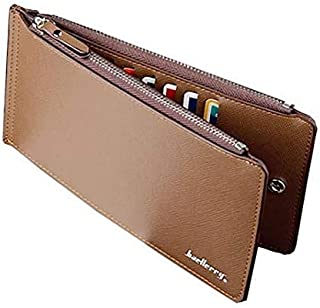 Baellerry Muti card case Chocolate Brown Faux Leather For Unisex - Card & ID Cases